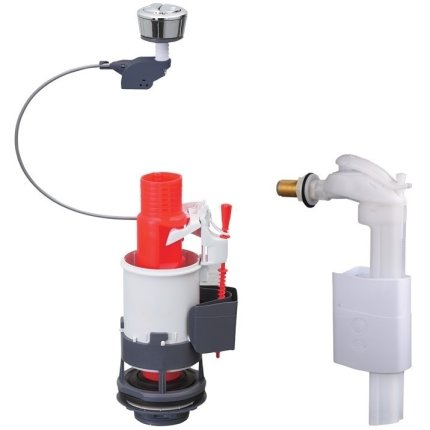 Set mecanism WC dubla comanda si flotor Wirquin PRO cu alimentare laterala