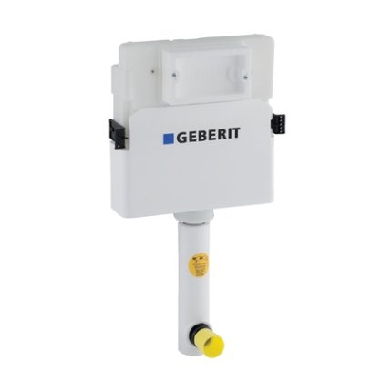 Rezervor incastrat Geberit Delta UP100 de 12 cm grosime, cu actionare frontala