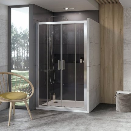 Usa de nisa tip cortina Ravak Concept 10° 10DP4-140, 140cm, alb
