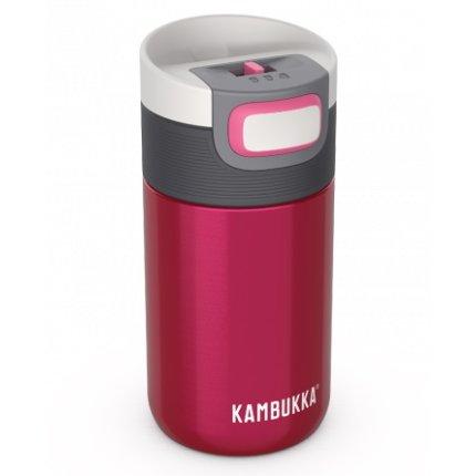 Cana termos Kambukka Etna cu capac 3 in 1 Snapclean, inox, 300ml, Raspberry