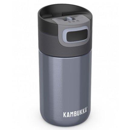 Cana termos Kambukka Etna cu capac 3 in 1 Snapclean, inox, 300ml, Blue Steel