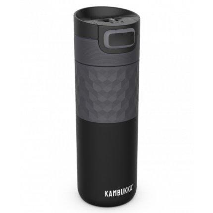 Cana termos Kambukka Etna Grip cu capac 3 in 1 Snapclean, inox, 500 ml, Black Steel