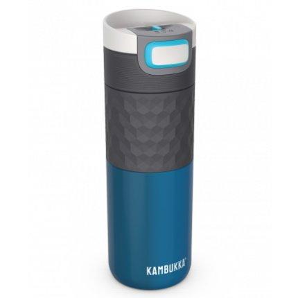 Cana termos Kambukka Etna Grip cu capac 3 in 1 Snapclean, inox, 500 ml, Ocean