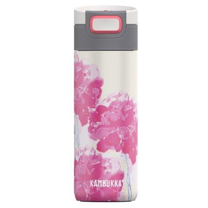 Cana termos Kambukka Etna cu capac 3 in 1 Snapclean, inox, 500 ml, Pink Blossom