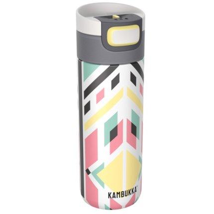 Cana termos Kambukka Etna cu capac 3 in 1 Snapclean, inox, 500 ml, Tribal Shibori