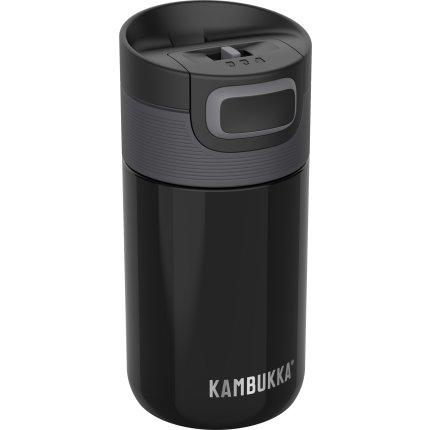 Cana termos Kambukka Etna cu capac 3 in 1 Snapclean, inox, 300ml, Pitch Black