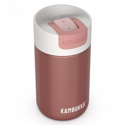 Cana termos Kambukka Olympus cu capac Switch, inox, 300ml, Misty Rose