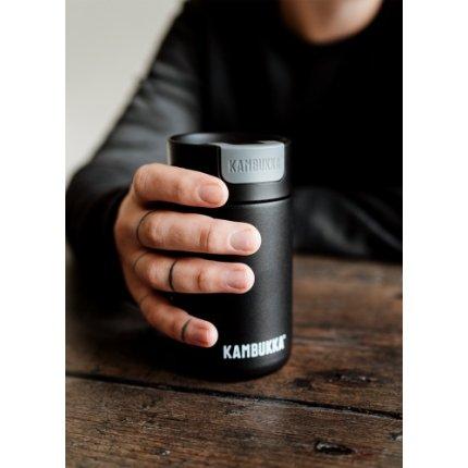 Cana termos Kambukka Olympus cu capac Switch, inox, 300ml, Jet Black