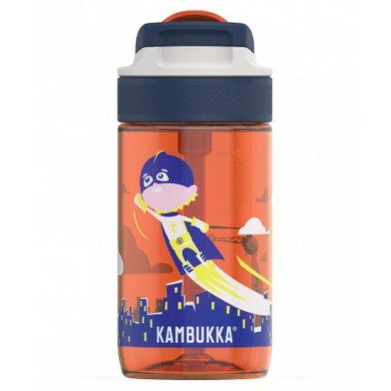 Sticla Kambukka Lagoon cu capac Spout, Tritan, 400 ml, Flying Superboy