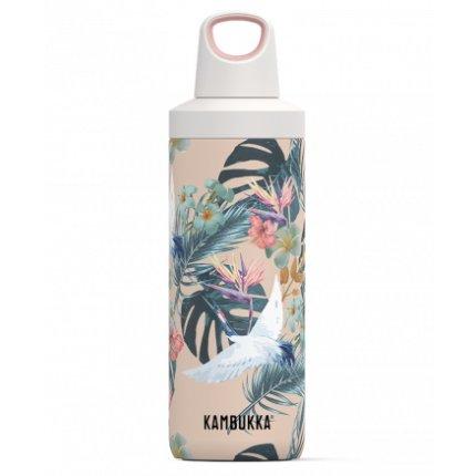Sticla termos Kambukka Reno cu capac Twist, inox, 500 ml, Paradise Flower