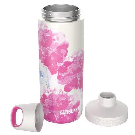 Sticla termos Kambukka Reno cu capac Twist, inox, 500 ml, Pink Blossom