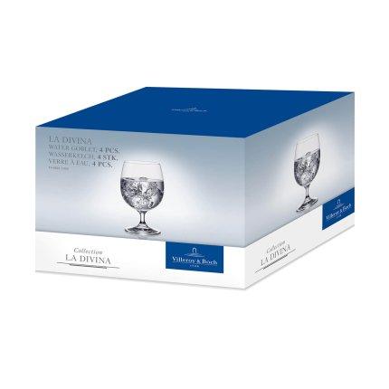 Set 4 pahare apa Villeroy & Boch La Divina Goblet 145mm, 0,33 litri