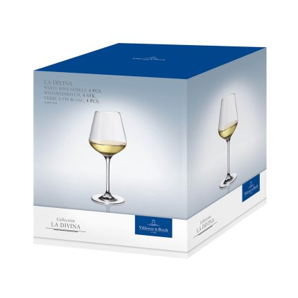 Set 4 pahare vin alb Villeroy & Boch La Divina Goblet 227mm, 0,38 litri