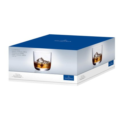 Set 4 pahare whisky Villeroy & Boch La Divina Tumbler 94mm, 0,36 litri