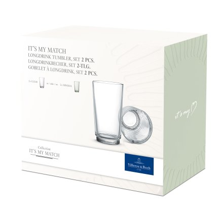 Set 2 pahare like. by Villeroy & Boch it's my match mineral tumbler 0.41 litri