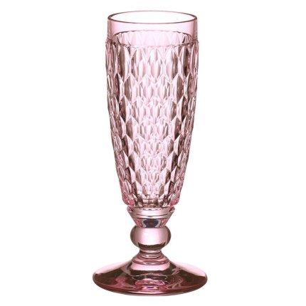 Pahar sampanie Villeroy & Boch Boston Flute roz 163mm, 0,15 litri