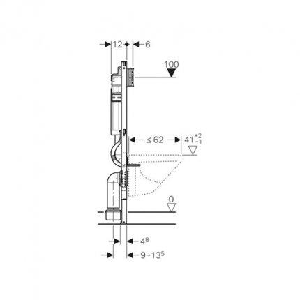 Set rezervor incastrat cu cadru Geberit Sigma UP320 de 12cm cu set fixare si set fonoizolant incluse
