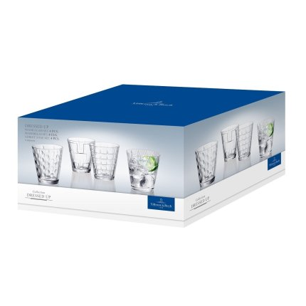 Set pahare apa Villeroy & Boch Dressed Up blue, 4 piese