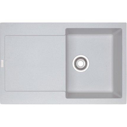 Set Franke Bianco: Chiuveta fragranite Maris MRG 611, 780x500mm + Baterie bucatarie Sirius cu dus extractibil