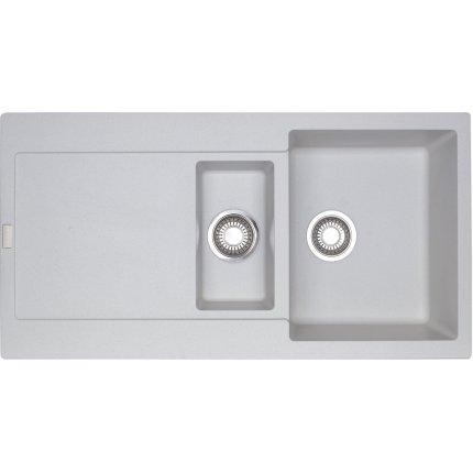 Chiuveta fragranite Franke Maris MRG 651 reversibila 970x500 tehnologie Sanitized Bianco