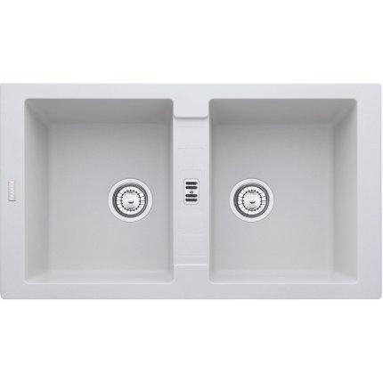 Chiuveta fragranite Franke Maris MRG 620 reversibila 860x500 tehnologie Sanitized Bianco