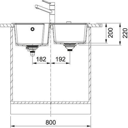 Chiuveta Franke fragranite Urban UBG 620-78 cu doua cuve, 780x500mm, Avena