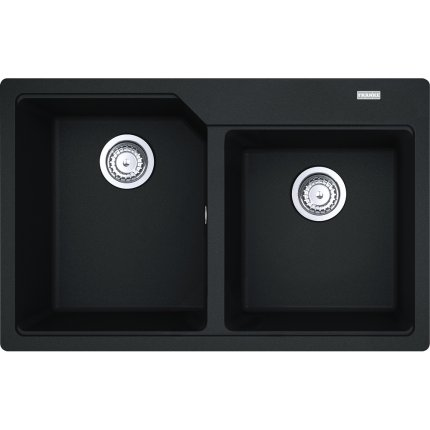 Chiuveta Franke fragranite Urban UBG 620-78 cu doua cuve, 780x500mm, Nero