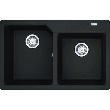 Set Franke Nero: Chiuveta fragranite Urban UBG 620-78 cu doua cuve, 780x500mm + Baterie bucatarie Sirius cu dus extractibil