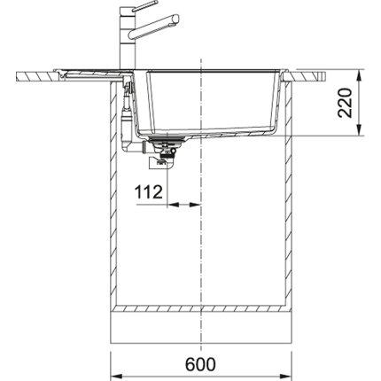 Chiuveta Franke fragranite Urban UBG 611-78L, 780x500mm, Sahara