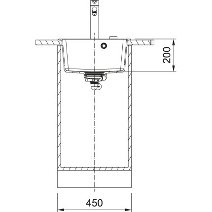 Chiuveta bucatarie fragranite Franke Centro CNG 610-39, 44x50cm, Nero