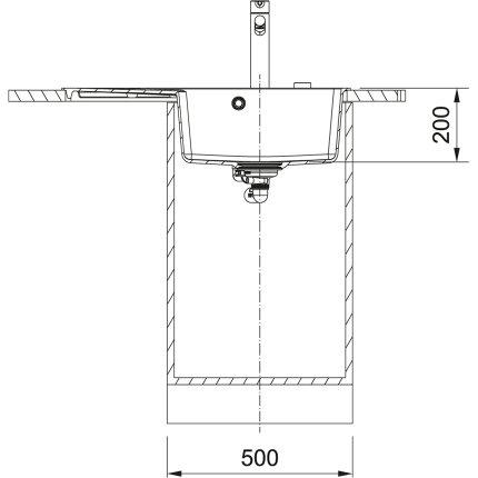 Chiuveta bucatarie fragranite Franke Centro CNG 611/211-78 ST, picurator stanga, 78x50cm, Nero