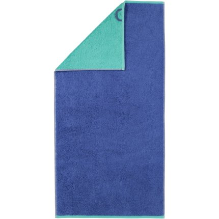 Prosop baie Cawo Code Doubleface 50x100cm, 14 albastru safir