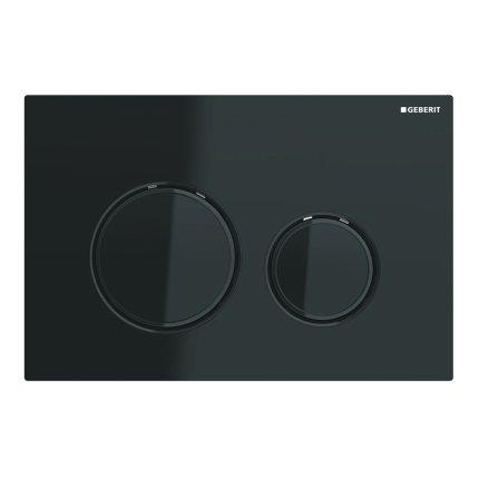 Clapeta actionare Geberit Sigma21, negru - crom negru