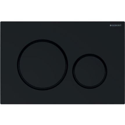 Clapeta actionare Geberit Sigma20 negru, detalii negru mat
