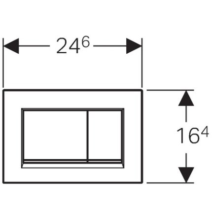 Clapeta actionare Geberit Sigma30 negru, detalii negru mat