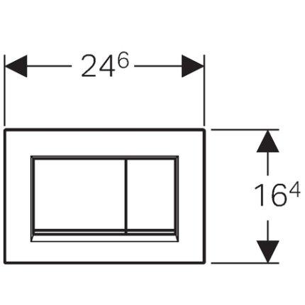 Clapeta actionare Geberit Sigma 30 alb-crom mat
