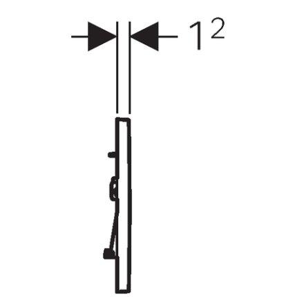 Clapeta actionare Geberit Sigma30 negru, detalii crom lucios