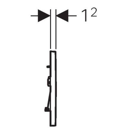 Clapeta actionare Geberit Sigma30 EasytoClean alb mat lacuit / alb