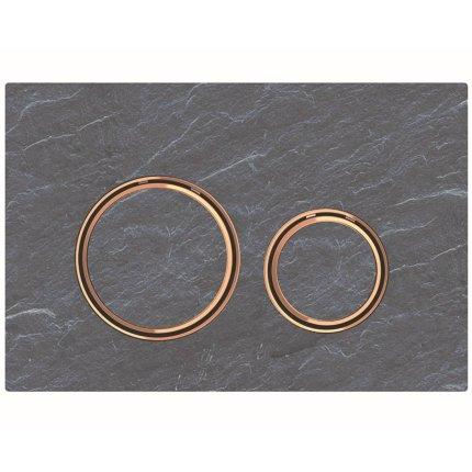 Clapeta actionare Geberit Sigma21 mustang ardezie / rose-gold