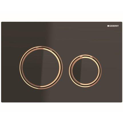 Clapeta actionare Geberit Sigma21 negru / rose-gold