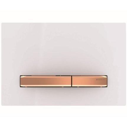 Clapeta actionare Geberit Sigma50 alb, detalii rose-gold