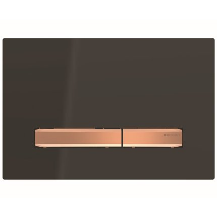 Clapeta actionare Geberit Sigma50 negru / rose-gold