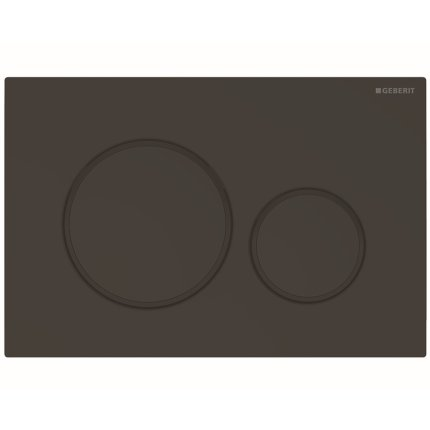 Clapeta actionare Geberit Sigma20 EasytoClean negru mat lacuit / negru