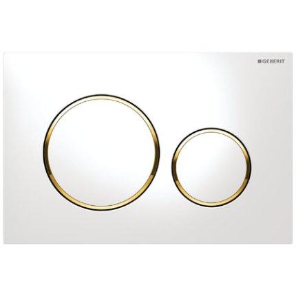 Clapeta actionare Geberit Sigma20 alb-auriu