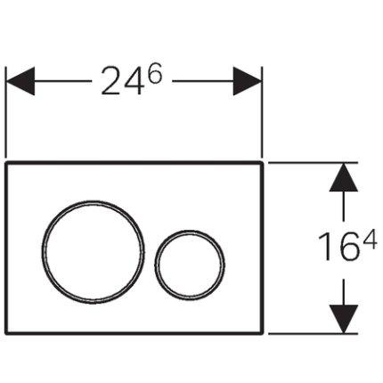 Clapeta actionare Geberit Sigma 20 alb-crom mat