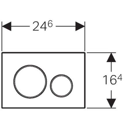 Clapeta actionare Geberit Sigma20 EasytoClean alb mat lacuit / alb
