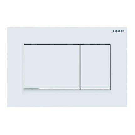 Clapeta actionare Geberit Sigma30 New alb mat lacuit /crom lucios, strat Easy-to-Clean