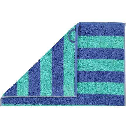 Prosop baie Cawo Code Stripes 50x100cm, 14 albastru safir