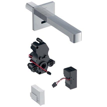 Baterie lavoar Geberit Brenta 17 electronica, alimentare retea, montaj pe perete, pentru cutie functionala incastrata