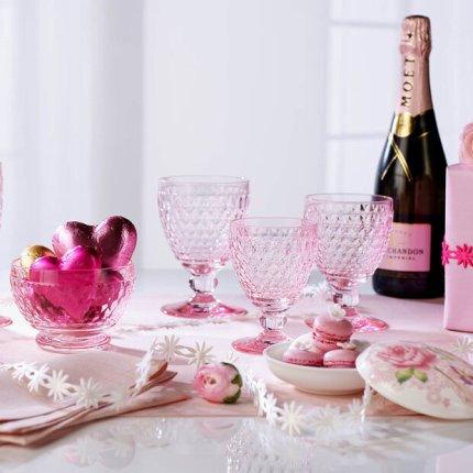 Pahar vin alb Villeroy & Boch Boston Coloured roz, 120mm, 0.23 litri